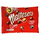 MALTESERS Fairtrade Full Size Bags, 3 x 37g (111g)