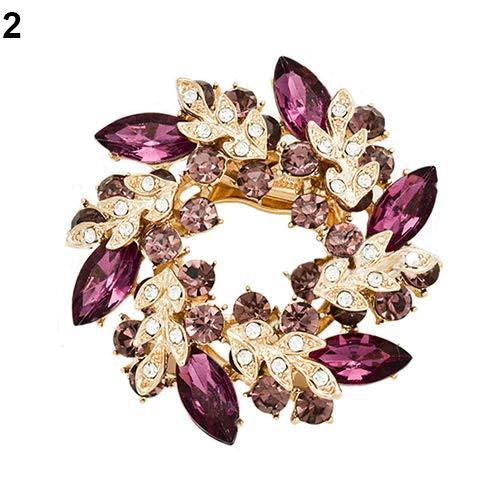 beiguoxia 1 stück Mode Damen Strass blumenstrauß brosche schal Tasche schmuck Charme high-end diamantbesetzte bauhinia 2