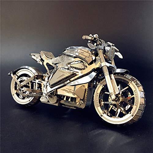 3D Metall Puzzle Dodge / Tomahawk Concept Motorrad Modell DIY 3D Laser Cut Puzzle Spielzeug Silber Einheitsgröße