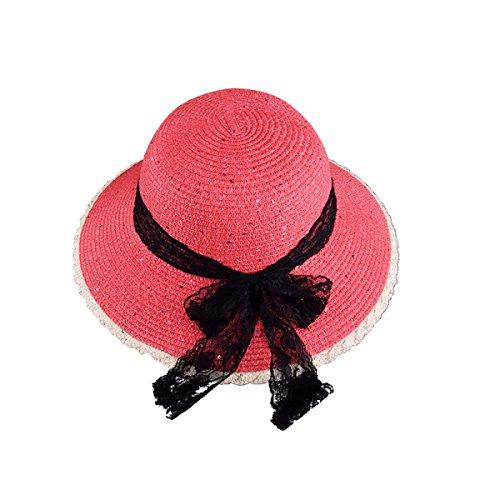 Mme Printemps Et En été Le Nouveau Chapeau De Paille Chapeau De Plage Voyage Voyages Chapeau Dayan Mao WatermelonRed