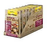 GimDog Superfood Meat Balls Hühnchen mit Süßkartoffel und Hirse | Mono-Protein Hundesnack mit hohem Fleischanteil | ohne Zuckerzusatz | 8 Beutel (8 x 70 g)