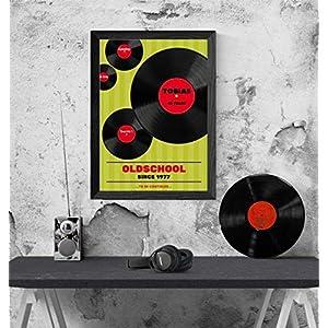40. Geburtstag: Tolles Geburtstagsgeschenk in DinA4 für Mann und Frau im Jahrgang 1979/1969 | Personalisierte Geburtstagskarte als Geschenk zum 30 mit Motiv: Vinyl/Schallplatten