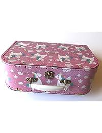 Sass and Belle Valise pour Enfant avec boîte de Rangement Boîte en Carton 3 Tailles différentes, Rosa/Regenbogen Einhorn, Centre