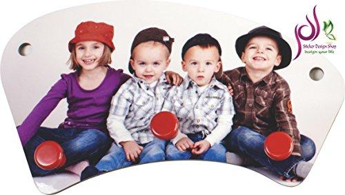 Sticker Design Shop Porte-Manteau Mural Porte-Manteau pour Enfants Personnalisable Imprimé Prénoms Photo Motifs Texte - -