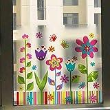 ZSBoBo Cartoon Balkonfenster Wandtattoo Wandsticker Wandaufkleber Wanddeko Für Wohnzimmer Schlafzimmer Kinderzimmer