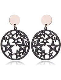 0587d1a9f317 Earrings Home Creativa Personalidad de la Moda exagerada Pendientes de  Acero de Titanio Círculo Estrella de