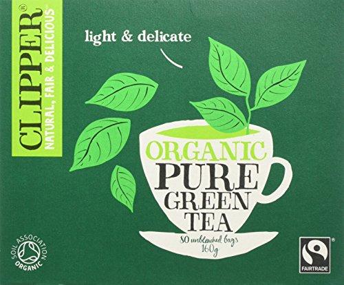 Clipper Fairtrade Organic Pure Green Tea 80 Teabags, Pack of 3