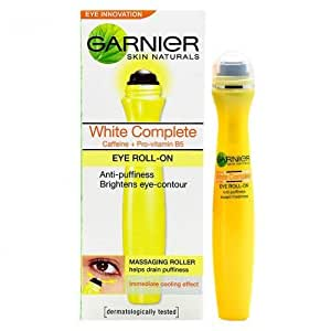 Garnier Skin Naturals White Complete Eye Eoll-On Anti-Puffiness Instant Freshness (15ml) (pack of 2)