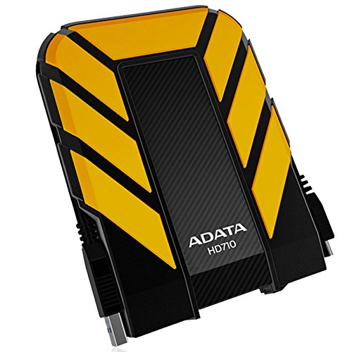 ADATA  HD710 1TB USB3.0 Durable External Hard Drive, IP68, Yellow (AHD710-1TU3-CYL)
