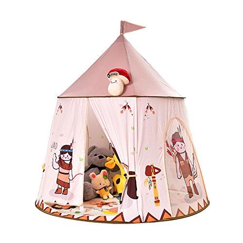 Y Jtent Spielzelte IndianerZelt Kinderspielzelt Spielschloss Kinder zelt Spielhaus Spielhaus Zimmer zelt Geschenk klappt Zusammenfalten des der kleine Junge Mädchen mit für drinnen und draußen Kinderzimmer