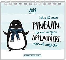 Mini-Kalender 2019 Ich will einen Pinguin: Minikalender