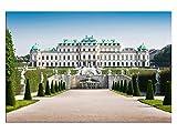 Schloss Belvedere Berlin Leinwandbilder auf Keilrahmen A05984 Wandbild Poster 150 x 100 cm