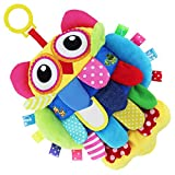 #9: My First Soft Toy TEYTOY Nontoxic Fabric Baby Cloth Toy Early Education Toys Activity Crinkle owl Soft Baby Toy