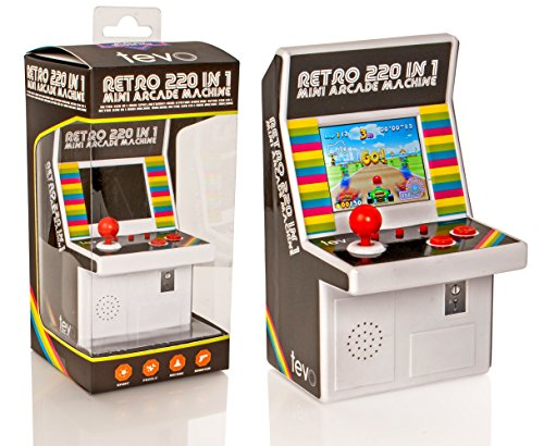 Tevo 220 Spiel Mini Arcade Machine - 16-Bit-Farbbildschirm - Retro-Handspielkonsole