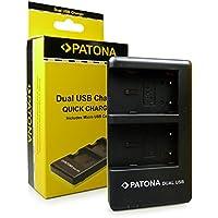 PATONA 2in1 Dual Caricabatteria NB-2L per Batteria Canon PowerShot G7 G9 S30 S40 S50 S60 S70 S80 EOS 350D 400D MV800 MV830 MV880 MV900 MV930 MV950 MV960 MVX300 MVX330i MVX350i MVX30i con micro USB
