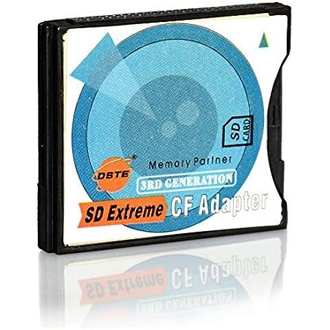 DSTE DQ0201 -- 5mm SD-CF II: SD to CF Tipo II Adaptador de la Tarjeta (Apoyo SDHC MMC SDHC SDXC) Alto Velocidad -- para Canon G5, D60, EOS 10D, 20D, 30D, 40D, 50D, 5D, 5D2, 7D, 300D, 350D, 400D, 1DX, D2X, D3, D3X; Sony a100, a200, a300, a35,0 a700, a850, A900; Nikon D100, D200, D300, D70; Fuji