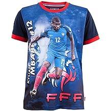 Maillot FFF - Kylian MBAPPE - Collection officielle Equipe de France de  Football - Taille enfant b67d6ab500df