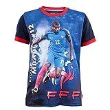 Equipe de FRANCE de football Maillot FFF - Kylian MBAPPE - Collection Officielle Taille Enfant 8 Ans