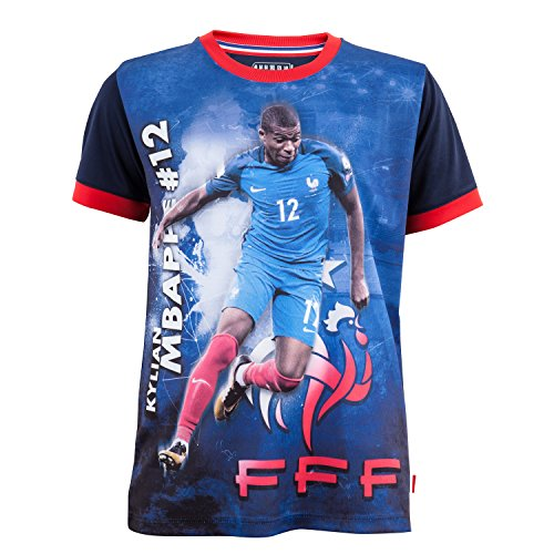 Equipe de FRANCE de football Maillot FFF - Kylian MBAPPE - Collection Officielle Taille Enfant 6 Ans