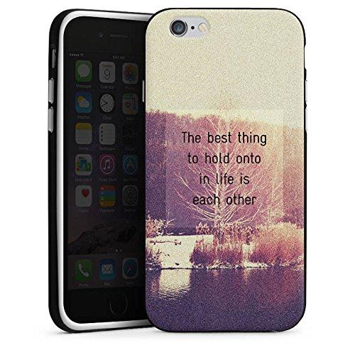 Apple iPhone 4 Housse Étui Silicone Coque Protection Phrases Arbres Amour Housse en silicone noir / blanc