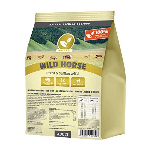 Hundeland Natural | Wild Horse | 3 kg | Pferd + Süßkartoffel...
