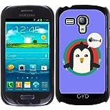 Hülle für Samsung Galaxy S3 Mini (GT-I8190) - Pinguin Mit Besteck Und by ilovecotton