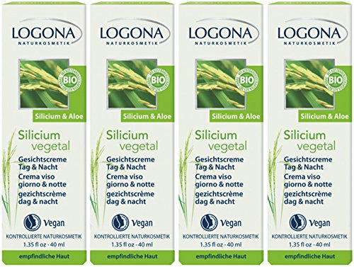 Logona Silicium vegetal Gesichtscreme Tag & Nacht 4x40ml