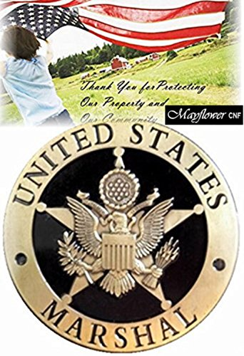 Mayflower CNF * Spezielle Antik Gold USA Marshal Badge Prop * Metall (Dick) selten * schöne Sammlung * Wunderbare Badge Prop * Geschenk (Abzeichen Fbi-agent)