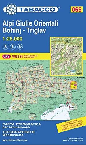 Alpi Giulie Orientali - Bohinj - Triglav 1:25.000 [Lingua inglese]