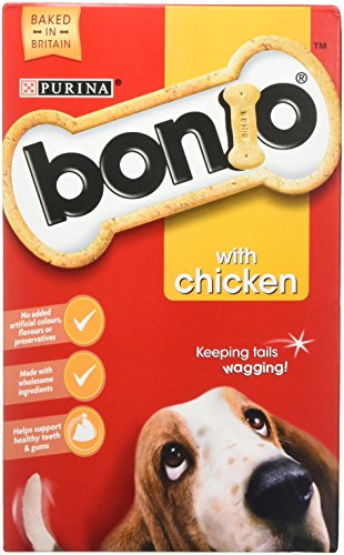 Bonio Biscuits Dog Food Chicken Flavour 650g (Case of 5) 1