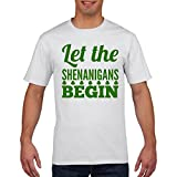 FunkyShirt Let The Shenanigans Begin Funny ST Patricks Day T-Shirt Paddys Day Shamrock Ireland T Shirt All Sizes and Colours