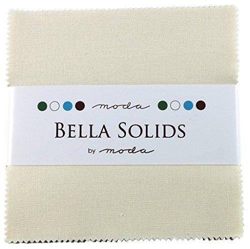 Moda Fabric Charm Pack Bella Solids Ivory -