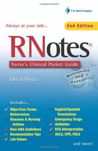 RNotes: Nurse's Clinical Pocket Guide: Baker's Dozen in Point of Purchase Display