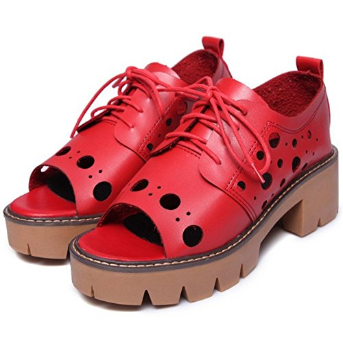 Coolcept Femmes Lacets Sandales red