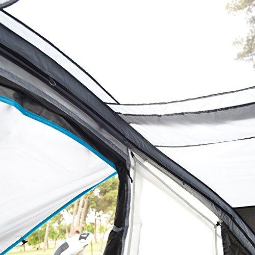 skandika Easy Air 3 XL | Aufblasbares Zelt mit Air Tubes | 3 Personen | Moskitonetze an Schlafkabine und Lüftung | Aufrollbare Dachabdeckung | 3.000mm Wassersäule | Eingenähter Zeltboden - 4