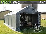 Lagerzelt Garagen 4x6x2x3,1m PVC Zelt Lagerhalle Weidezelt Garagenzelt