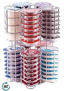 tassimo kapselhalter t disc st nder f r bis zu h lt 80 kapseln auf einem drehbaren gestell. Black Bedroom Furniture Sets. Home Design Ideas