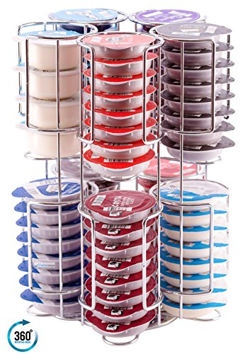 Contenedor de Cápsulas Tassimo | Dispensador de cápsulas tassimo, 80 cápsulas sobre una base ROTATIVA | La garantía de calidad inmejorable de Babavoom®T80