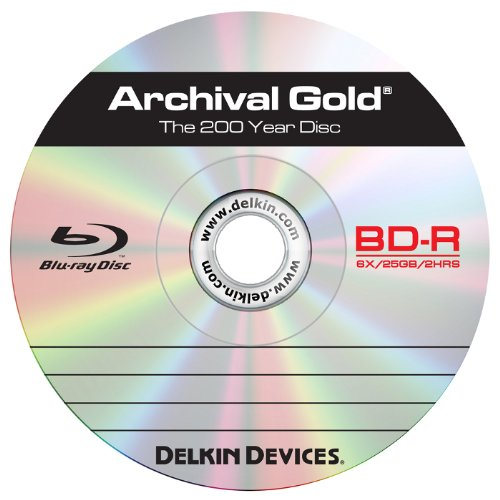 Delkin Europe - Campana da 25 dischi Blu-ray registrabili Archival Gold (foto, digitali)