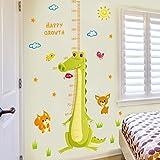 Liwendi Cartoon Wandaufkleber Grünes Krokodil Baby Kind Wachstum Messung Höhe Aufkleber Fuß Kinderzimmer Schlafzimmer Wanddekoration Pvc Aufkleber 60 * 90 Cm