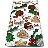 ewtretr Toallas De Mano, Traditional Christmas Cookies Cool Towel Beach Towel Instant Cool Ice Towel