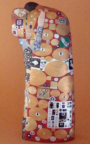 Estatua - El Cumplimiento - basado obra Gustav Klimt