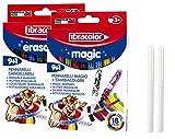 Fibracolor Changement de Couleur des stylos Magiques et stylos Magiques effaçables combinés Plus Extra-Libre Stylo Blanc Magique et Stylo Magique effaçable Blanc