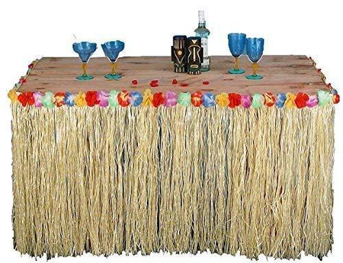 Quickdraw 5m Hawaiianisch Tisch Rock Gras Tropischer Tiki bar Garten Strand Sommer Party Dekoration (Tiki Bar Dekoration Party)