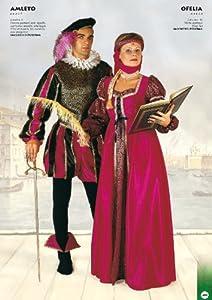 FIORI PAOLO 60027-Amleto disfraz adulto, talla L, Negro/Púrpura