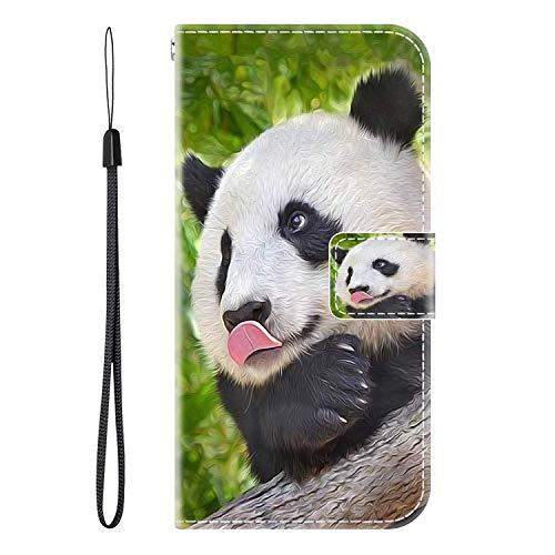 vingarshern Hülle für CUBOT X16 S Handytasche Klappbares Magnetverschluss Lederhülle Flip Etui Standfunktion Hülle CUBOT X16S Schutzhülle Leder Brieftasche(Panda) MEHRWEG