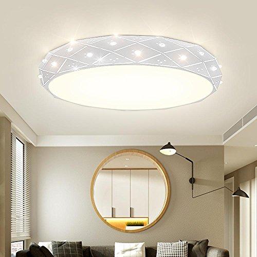 LED weiß (6000K-6500K) Rund Deckenleuchte Starlight Dekorative Deckenlampe Modern Diamant Design Deckenbeleuchtung lampe Dekor Wohnzimmer Schlafzimmer Decke Licht D60*12cm[Energieklasse A++]Weiss -