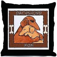 CafePress–Dachshund Mom Hug–Throw Pillow, cuscino decorativo Accent, Cover