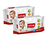 #5: Luvlap Paraben Free Baby Wet Wipes with Aloe Vera (80 Wipes, Pack of 2, 160 Sheets)