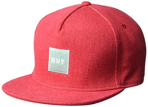 Imagen de huf  denim box logo red snapback alternativa